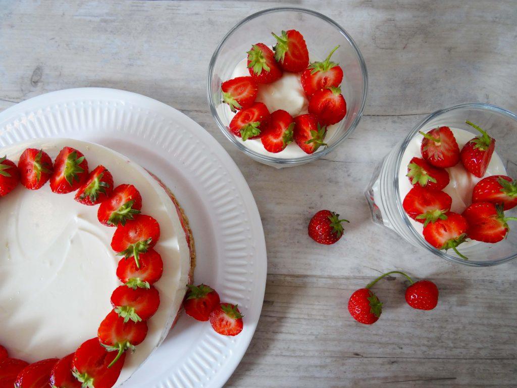 No Bake Cheesecake mit Dessert