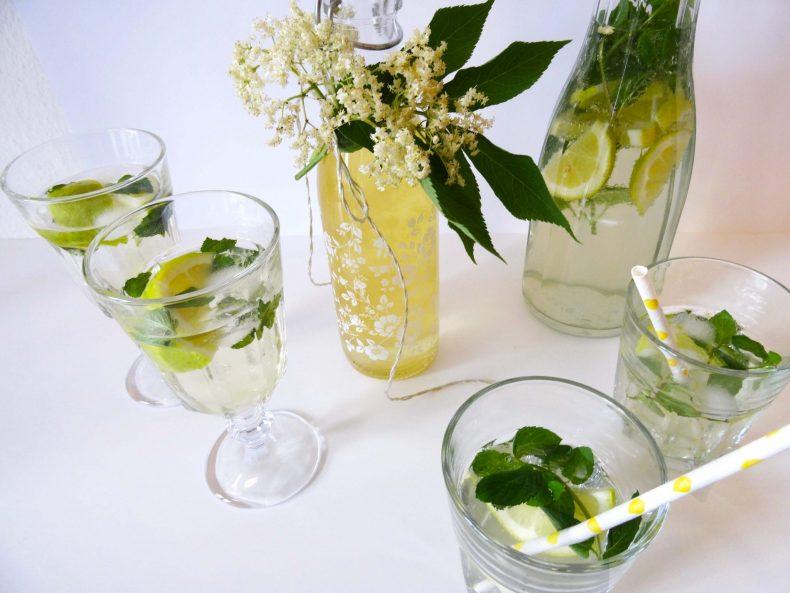 Holunderblüten-Liebe: Holunderblütensirup, Hugo & Limonade
