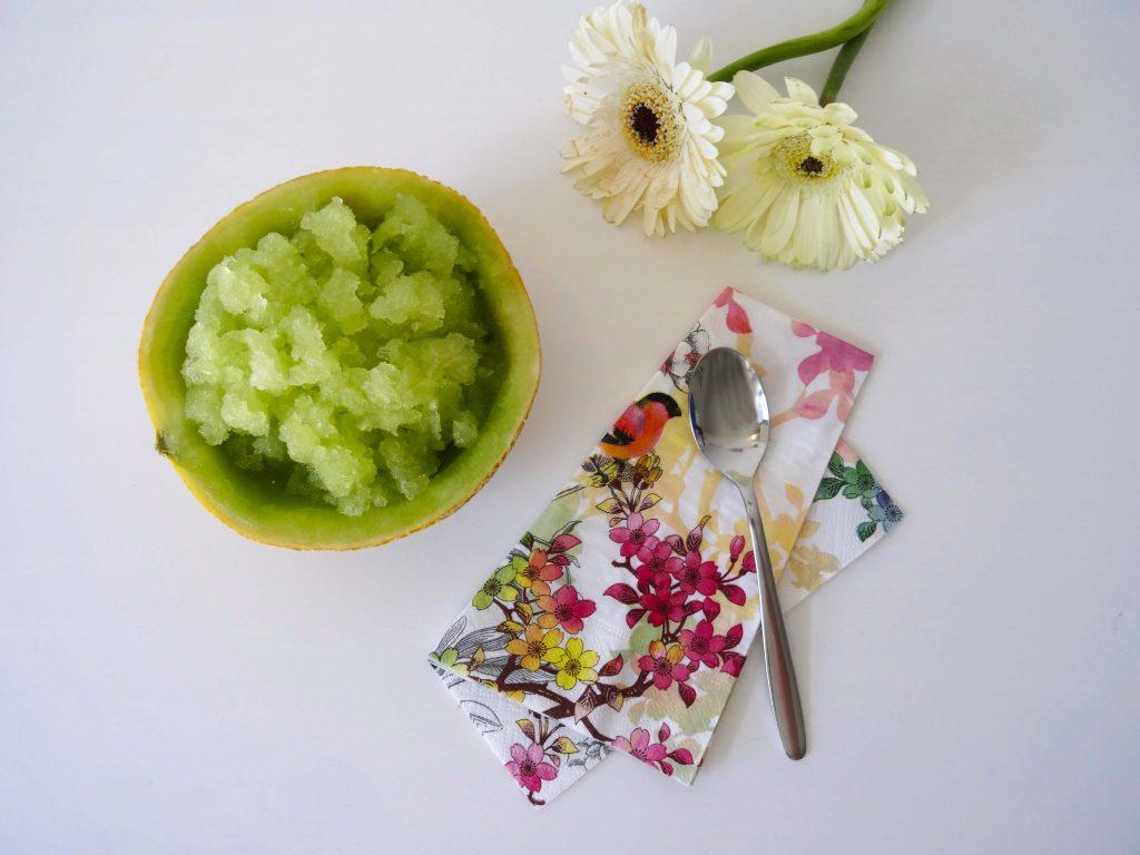 Melonengranita in der Schale