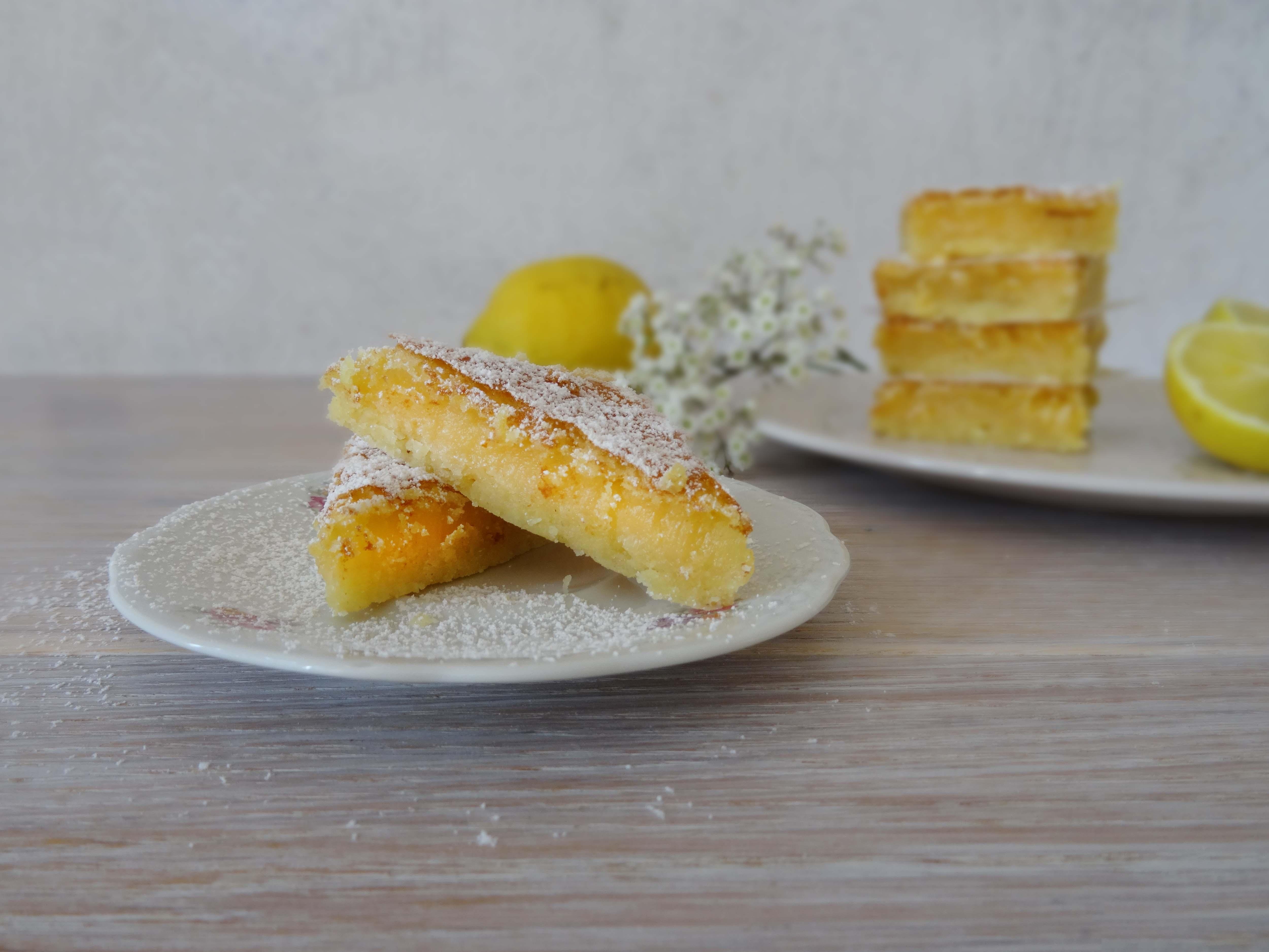 Zitronenschnitten (Rezeptbeitrag für den Knuspersommer)