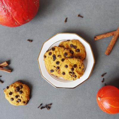 Pumpkin Spice Cookies mit Schokolade und
