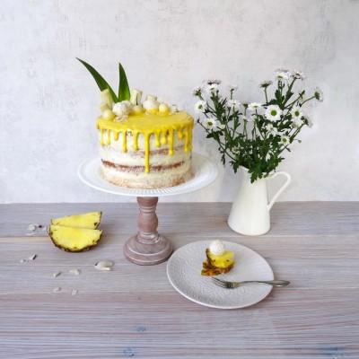 Drip-Cake: Pina-Colada-Torte