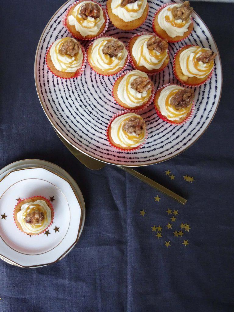 Apfelcupcakes mit Karamellfrosting