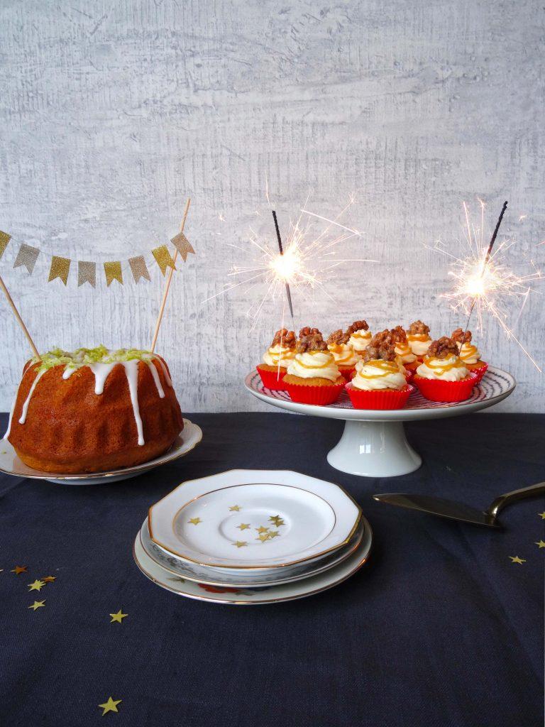 Partycupcakes mit Apfel und Karamell