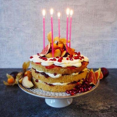 Dänischer Geburtstagskuchen: Lagkage mit Winterfrüchten